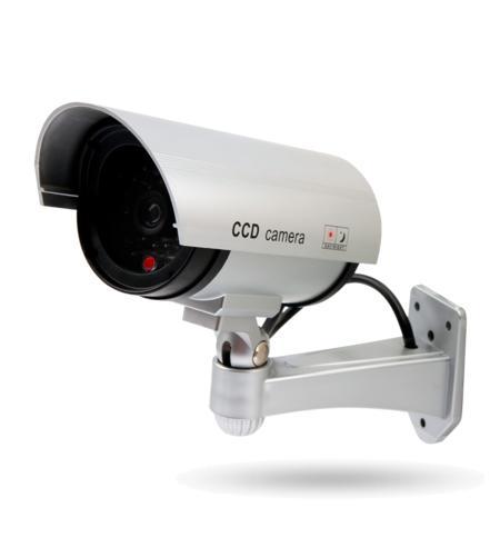 DC 400 Kamera Attrappe, blinkende LED batteriebetrieben, für Innen- und geschützte Außenbereiche