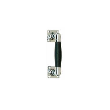 Stoßgriff Ton 150 mm, Nickel / Ebenholz