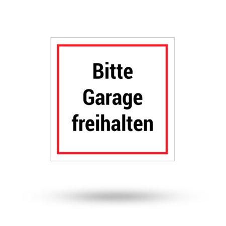 """Aluminiumschild """"Bitte Garage freihalten"""" 200 mm x 200 mm"""