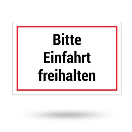 """Aluminiumschild """"Bitte Einfahrt freihalten"""" 300 mm x 200 mm"""