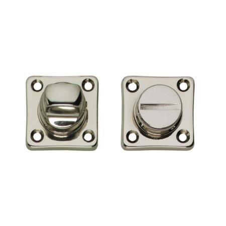 WC-Rosette Ton 400 Basic, Toiletten-/Badezimmerverriegelung, Nickel poliert