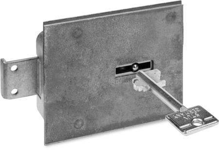 Typ 4.19.92-VDS-Schlossklasse 1/EN 1300 A, Bef.-Stahlplatte mit Mangan, Riegel Stahl, 2 Schlüssel 60 mm lang