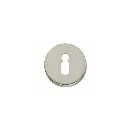 Rosette rund mit Schlüsselloch, Nickel matt