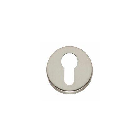 PZ-Rosette rund mit Schlüsselloch, Nickel matt
