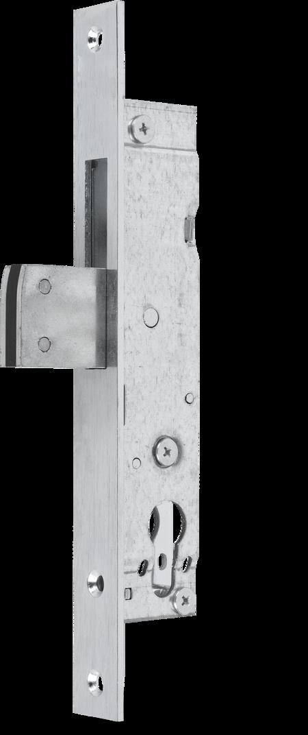 Einsteckschloss mit Schwenkriegel Stahl verzinkt, Dornmaß 25 mm Stulp 245 x 24 x 3 mm