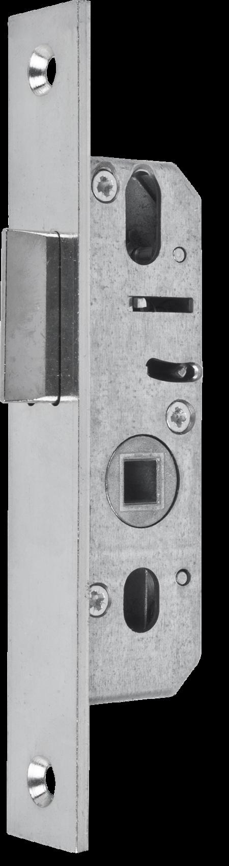 Einsteckfallenschloss, Dornmaß 18 mm, Stulp 24 x 160 x 3 mm