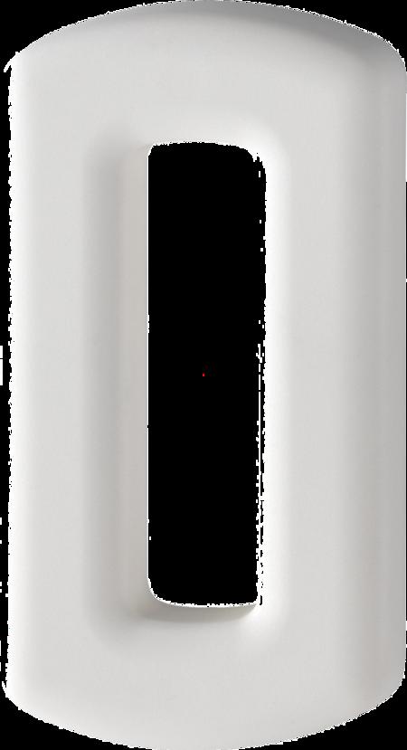 Hausnummer 0, Kunststoff-Hausnummer modern, weiß matt, verdeckte Befestigung, inkl. Mehrzweckschrauben und Dübel